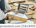 Carpenter Craftsman Handicraft Wooden Workshop Concept 25818495