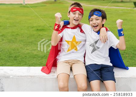 Superheroes Kids Boy Friend Buddy Concept 25818933