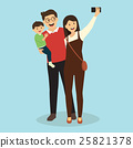 Happy Family with Baby Making Selfie 25821378