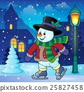 Skating snowman theme image 3 25827458