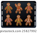 Gingerbread Man Baking Plate 25827992