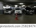 image blur car parking in building 25828474