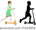 scooter kid  illustration 25828892