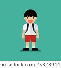 Cute cartoon boy 25828944