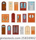 Set Of Detailed Colorful Front Doors 25830902