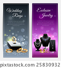 banner jewelry realistic 25830932