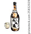 japanese sake, 1.8 liter bottles, 1 sho bottles 25832029