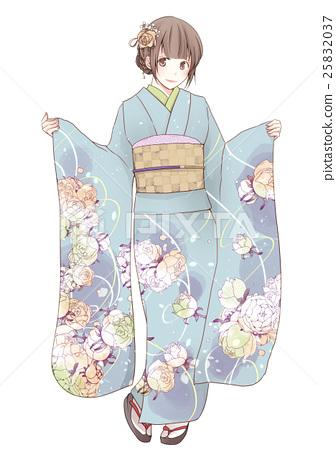 furisode, girl, kimono 25832037
