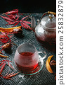 Autumn red hibiscus tea 25832879