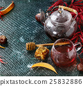 Autumn red hibiscus tea 25832886