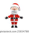 微笑聖誕老人3D例證 25834788