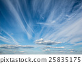 Magnificent blue sky with beautiful cirrus clouds 25835175