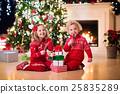 Kids under Christmas tree 25835289