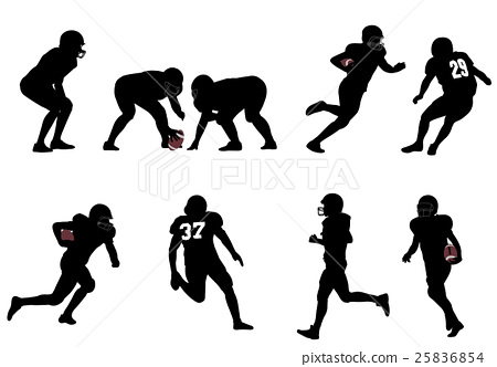 american football silhouettes 25836854