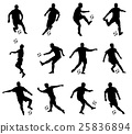 soccer players detailed silhouettes set 25836894