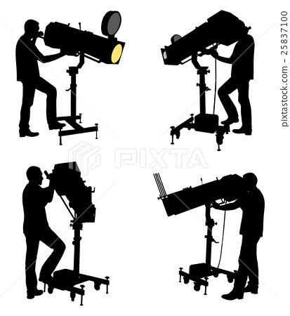 follow spot operator silhouettes 25837100