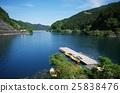 Naguri lake with a pier 25838476