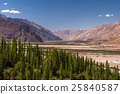 Himayalan range landscape view in Ladakh, India. 25840587