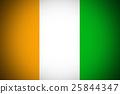Cote d'ivoire flag ,Original and simple Ivory  25844347