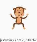 vector, monkey, cute 25846762