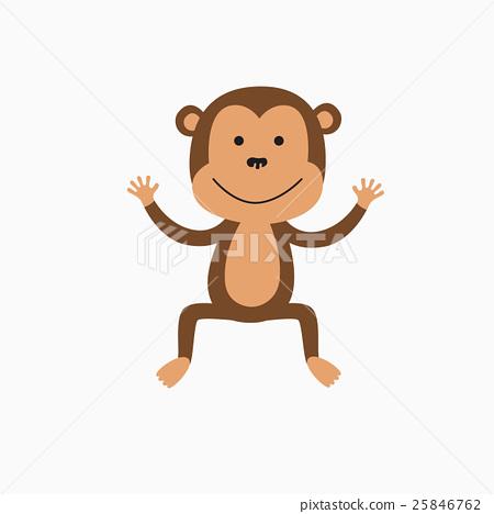 Cute baby monkey 25846762