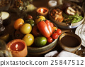 Tomatoes Candle Thanksgiving Table Setting Concept 25847512