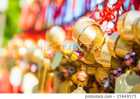 Golden bell at Wong Tai Sin Temple people wish 25849575