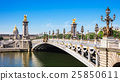 Alexandre III Bridge over river Seine in Paris 25850611