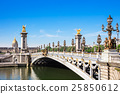Alexandre III Bridge over river Seine in Paris 25850612