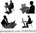 computer person silhouette 25850650