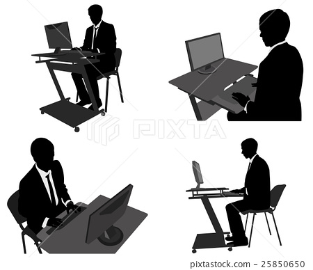 business man working on his computer 25850650