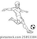 Cartoon Soccer Football Player 25853384