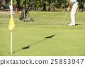 Golfer putting 25853947