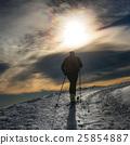 Ski mountaineering silhouette 25854887