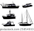 boats silhouettes 25854933