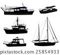 boat ship silhouette 25854933