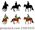 riding a horse - silhouettes and illustration 25855035