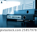 Life Hacking on Office Folder. Toned Image. 3D. 25857978