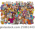 cartoon people in the crowd 25861443