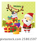 Merry Christmas Greeting card with Santa Claus 2 25861597