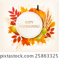 Happy Thanksgiving background with colorful autumn 25863325