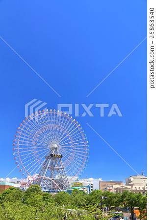 관람차와 푸른 하늘 (요코하마 미나토 미라이) 25863540