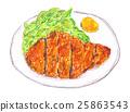 炸豬排 酥炸豬排 厚魚片 25863543