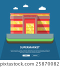 Supermarket Web Template in Flat Design 25870082