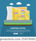 Shopping Centre Web Template in Flat Design. 25870083