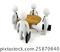 Group of 3D man having business meeting 25870640