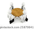 Group of 3D man having business meeting 25870641