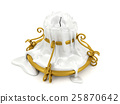 Melted candle and gold candle holder isolated 25870642