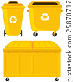Trashcans in three different designs 25870717