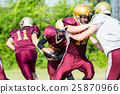 Defense after pass at American Football Game 25870966